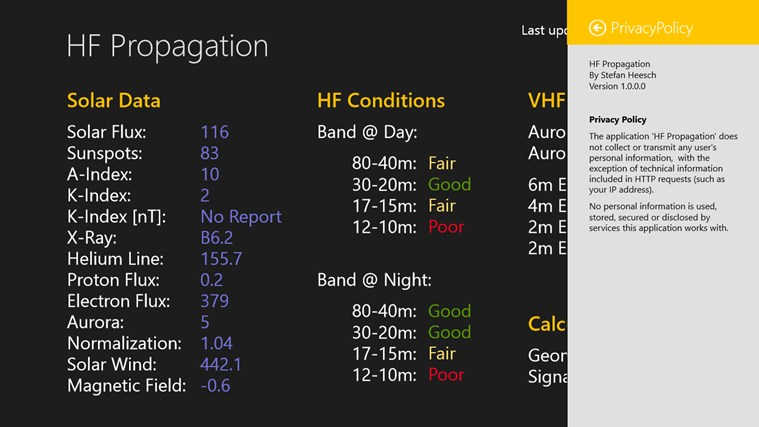 HF Propagation Screenshot 1