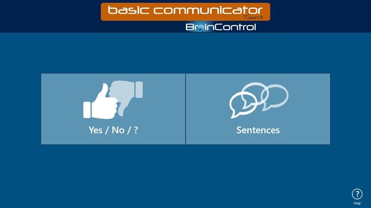 BrainControl - Basic Communicator Touch screen shot 1