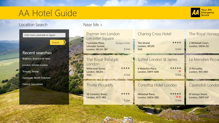 AA Hotel Guide screen shot 1