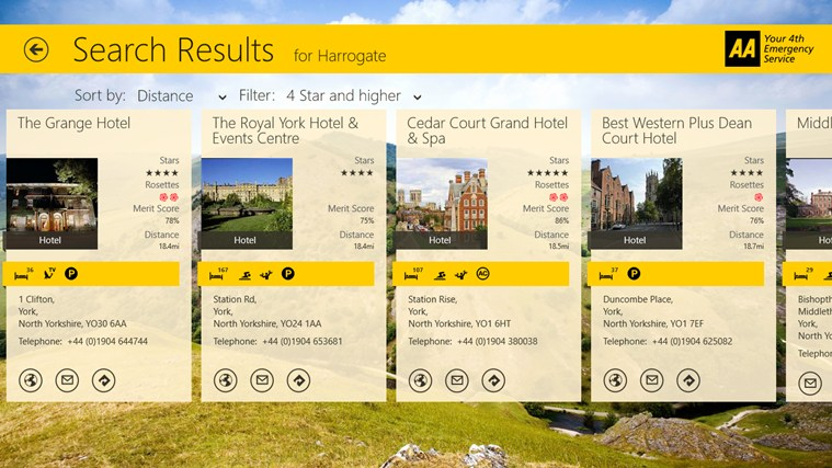 AA Hotel Guide screen shot 3