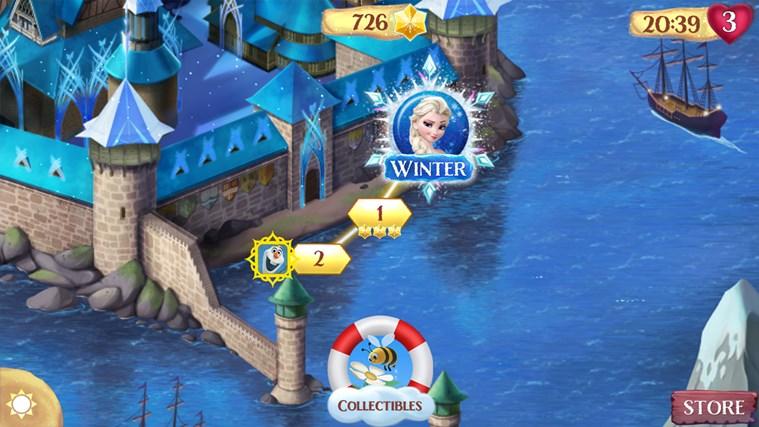 Frozen Free Fall screen shot 1