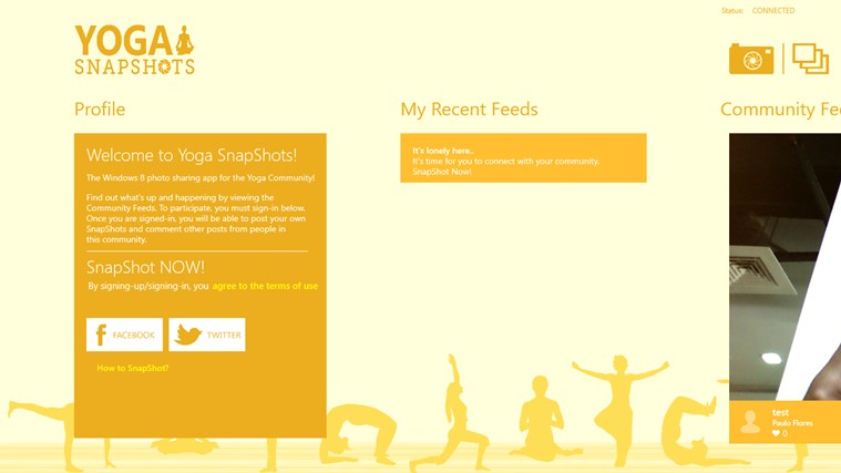 Yoga SnapShots screen shot 1