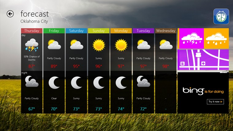 WeatherBug screen shot 5