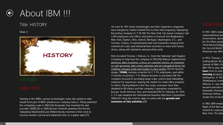 IBM DETAILS screen shot 1