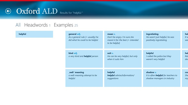 Oxford Advanced Learner's Dictionary, 8th edition screen shot 5