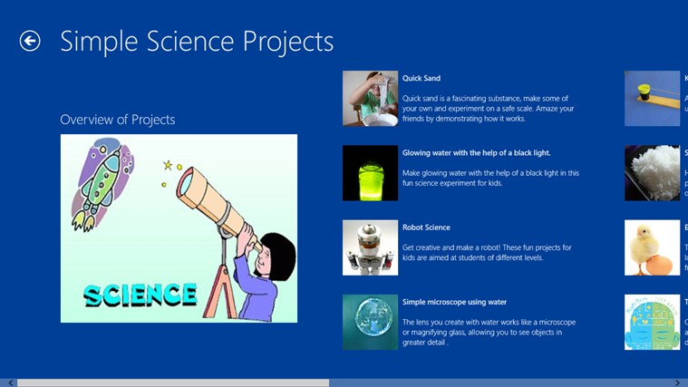 Simple Science Projects screen shot 1