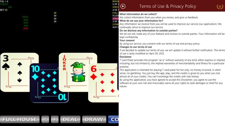 7 Cards Poker Bola Tangkas posnetek zaslona 1