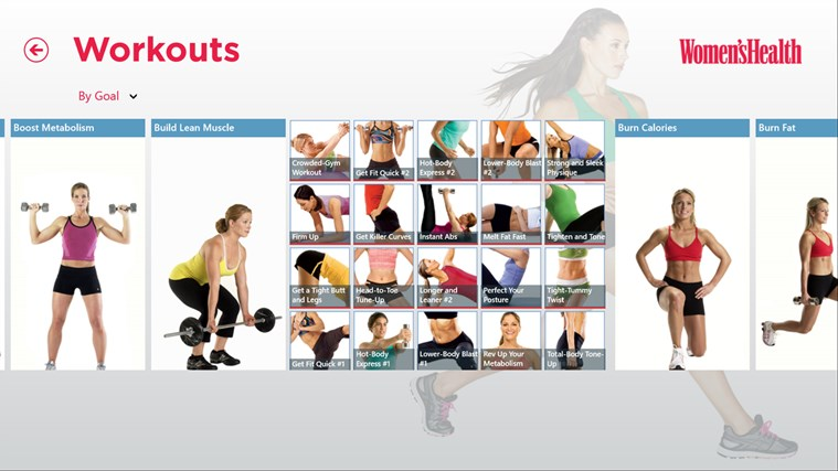 Women's Health Workouts screen shot 1