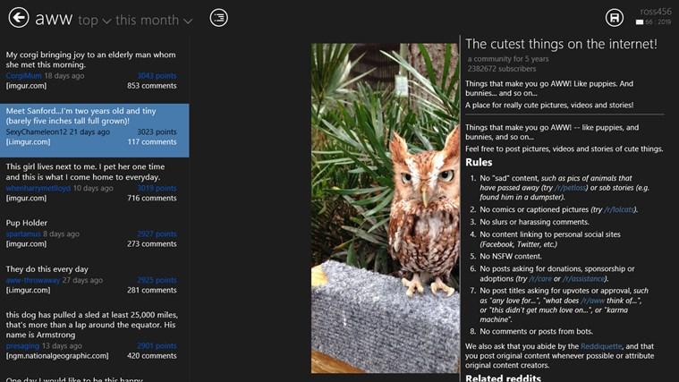 Reddit2Go! for reddit screen shot 1
