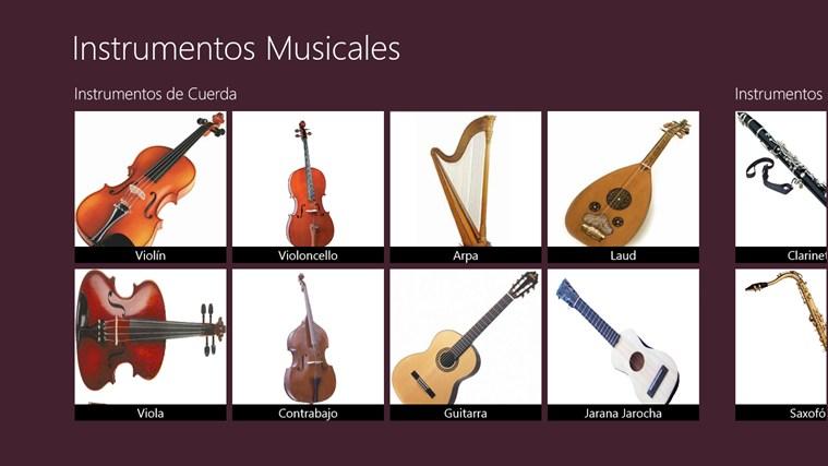 Instrumentos Musicales captura de pantalla 1