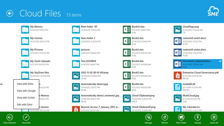 Cloud File Explorer screen shot 7