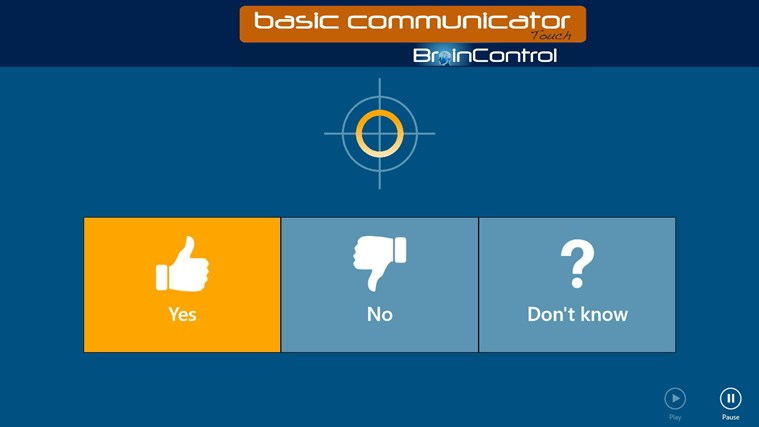 BrainControl - Basic Communicator Touch screen shot 3