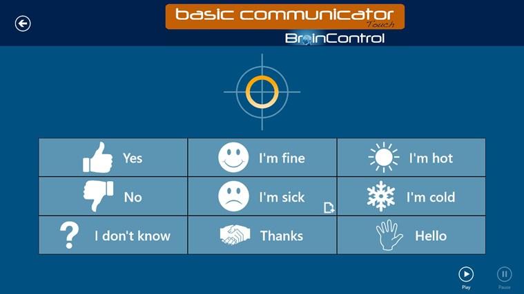 BrainControl - Basic Communicator Touch screen shot 5