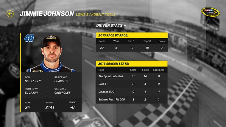 NASCAR screen shot 1