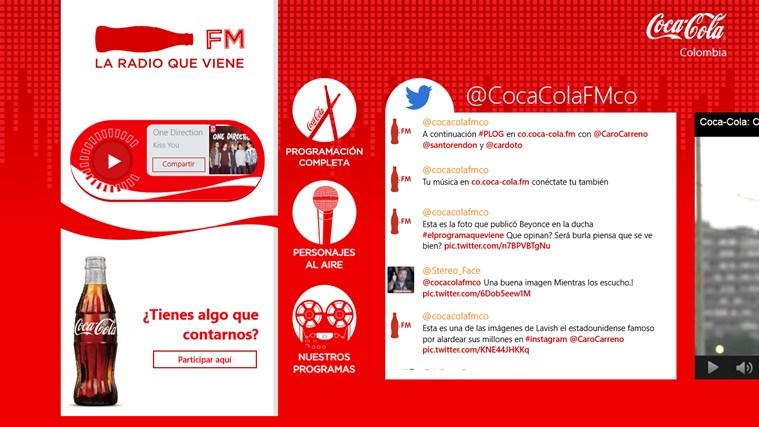Coca Cola FM screen shot 1