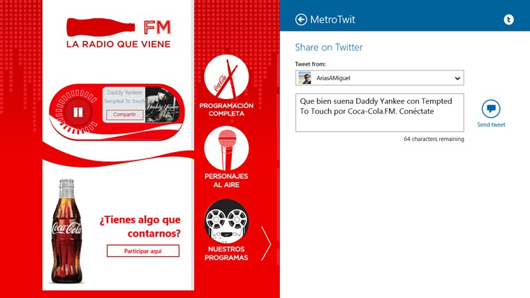 Coca Cola FM screen shot 5