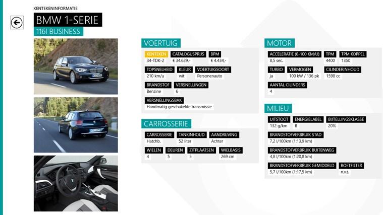 Kenteken Informatie schermafbeelding 1