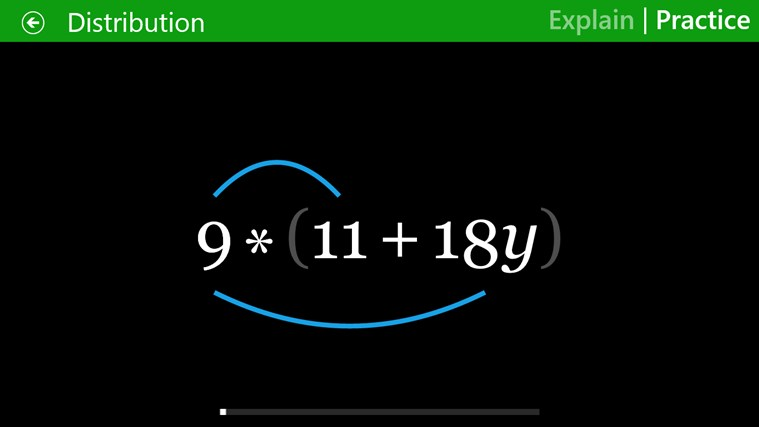 Algebra Touch screen shot 1