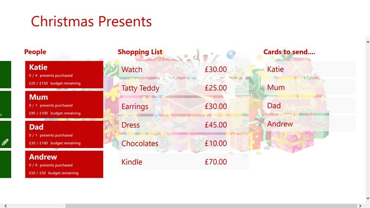 Christmas Presents screen shot 1