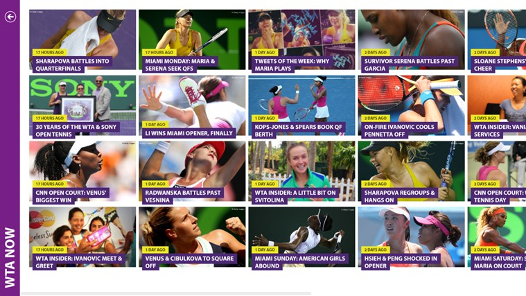 WTA - The Official Windows Application screen shot 1
