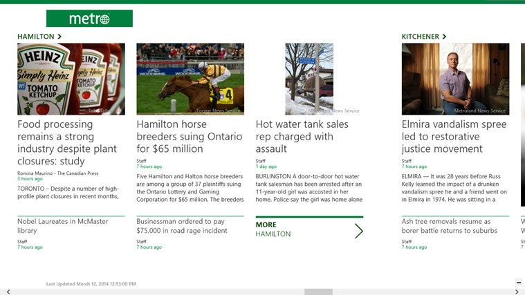 Metro Canada screen shot 1