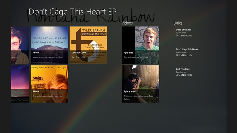 Don't Cage This Heart Album App captura de pantalla 1