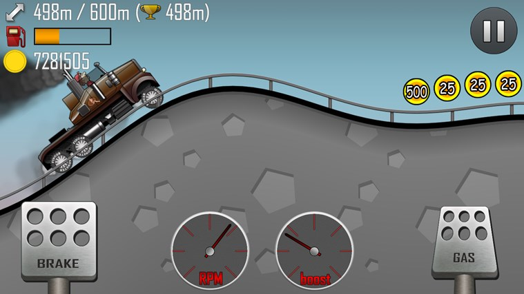 Hill Climb Racing screen shot 1