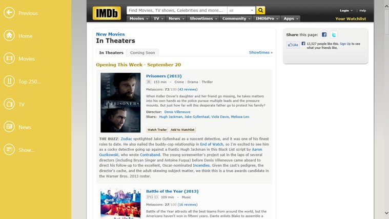 IMDb HD screen shot 1