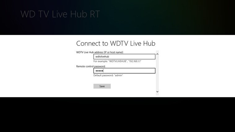 WDTV Live Hub RT Screenshot 1