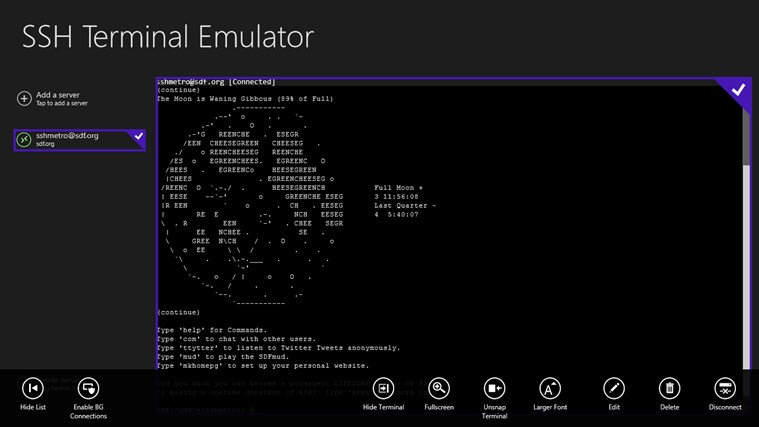 Unix Terminal Emulator For Windows