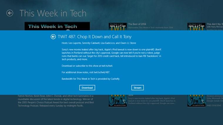 TWiT View screen shot 5