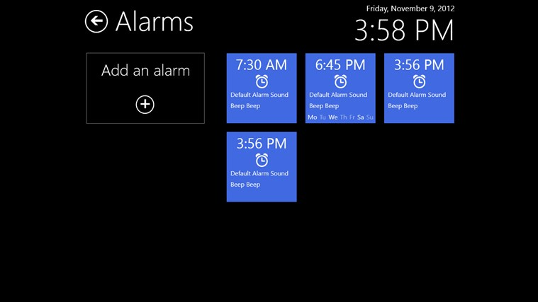 Music Alarm Clock screen shot 1
