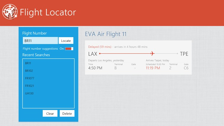 Flight Locator screen shot 7