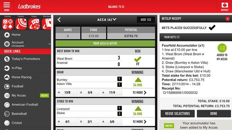 sports betting app for windows phone