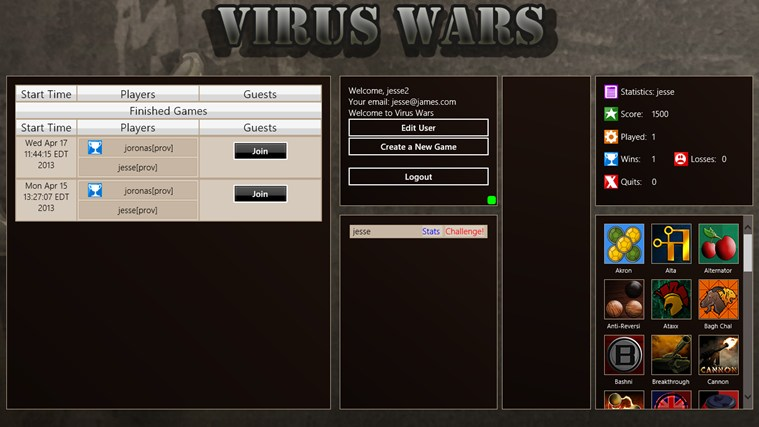 Virus Wars Online screen shot 1