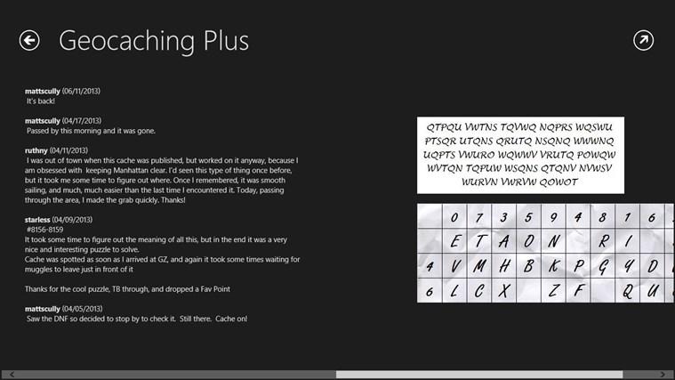 Geocaching Plus Beta screen shot 3