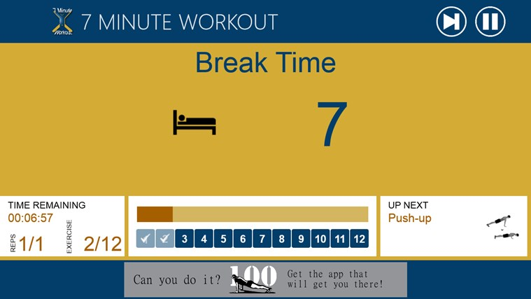 7 Minute Workout screen shot 3