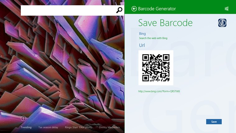 Barcode generator screen shot 5