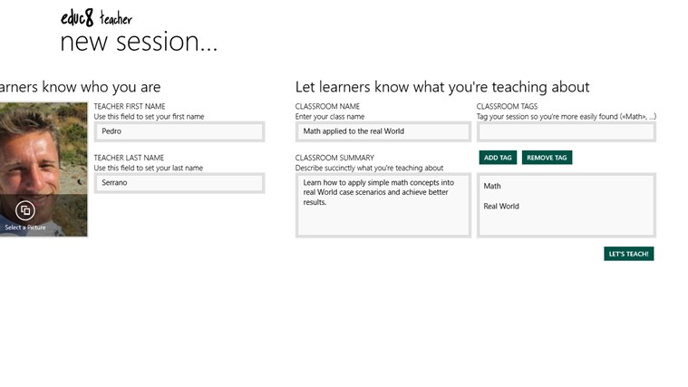 EDUC8 TEACHER screen shot 1
