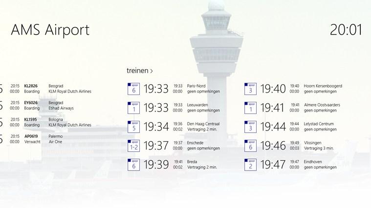 AMS Airport schermafbeelding 1