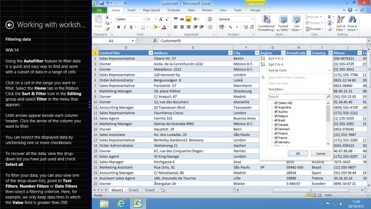 Video Training Excel 2010 screen shot 3