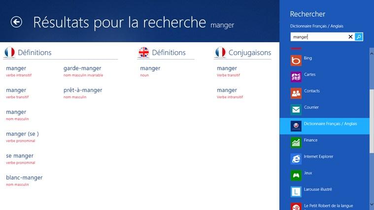 Dictionnaire français – anglais Larousse capture d'écran 1