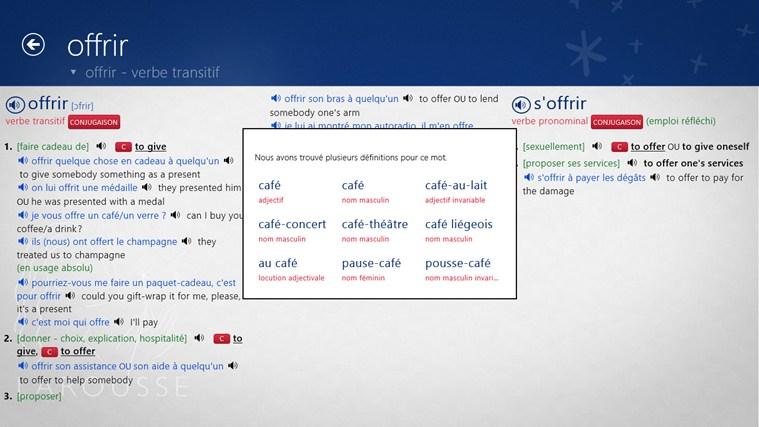 Dictionnaire français – anglais Larousse capture d'écran 5