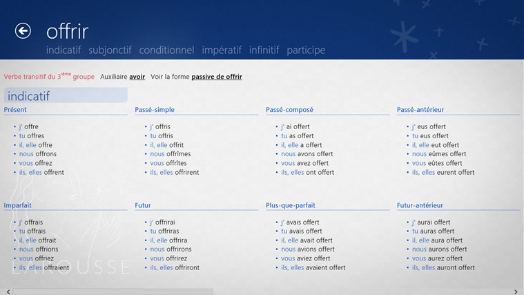 Dictionnaire français – anglais Larousse screen shot 3