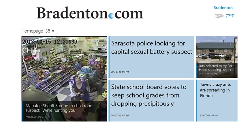 Bradenton Herald screen shot 1