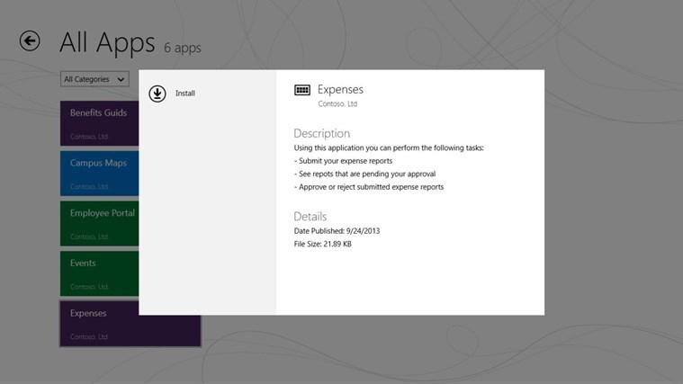 Company Portal screen shot 1