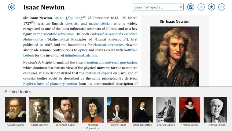 Bing Wikipedia Browser capture d'écran 1