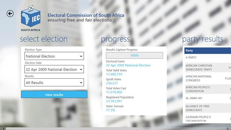 IEC South Africa screen shot 3