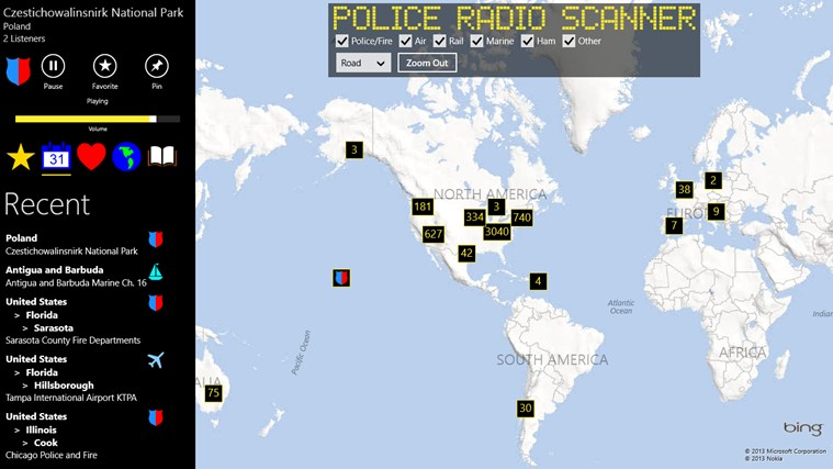Police Radio Scanner screen shot 1