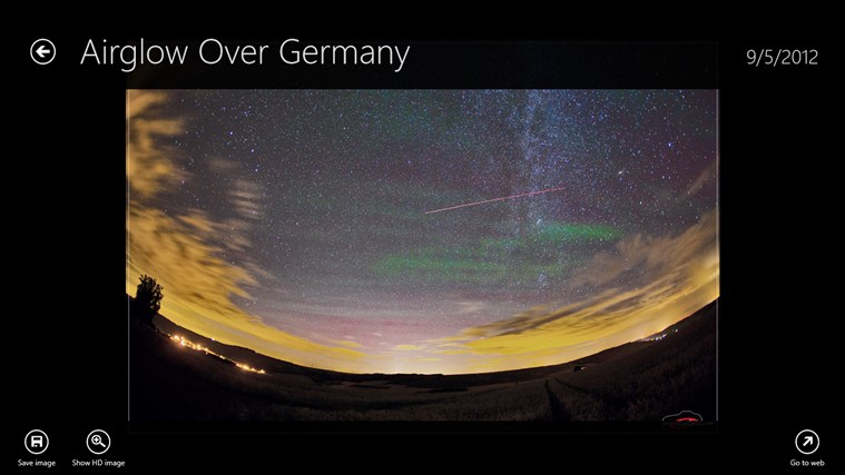 Astronomy Picture of the Day screen shot 1